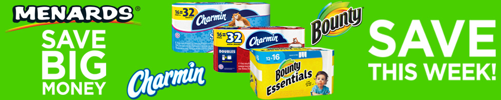 Save BIG Money on Charmin and Bounty this week!