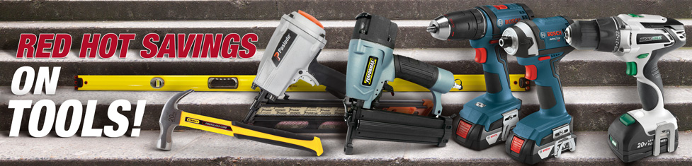 Red Hot Savings on Tools!