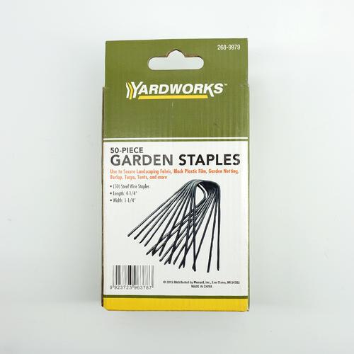 yardworks landscape fabric staples 50 pack at menards