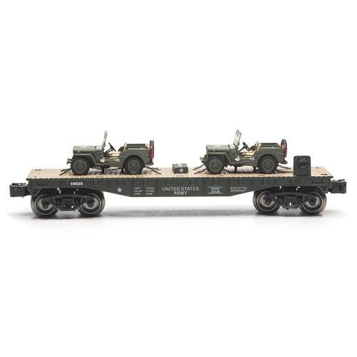 """11 1//2/"""" O Gauge Realistic Rock Island Flatcar Die Cast Kemps Tanker Trailer"""