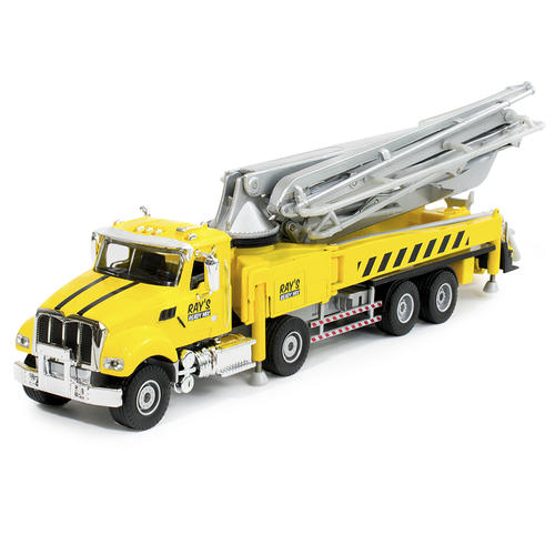 1:55 Scale Die-Cast Ray's Ready Mix Concrete Pump Truck at