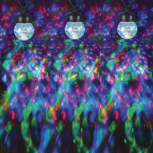 Red Green And Blue Lightshow Projection 8 Count Light String