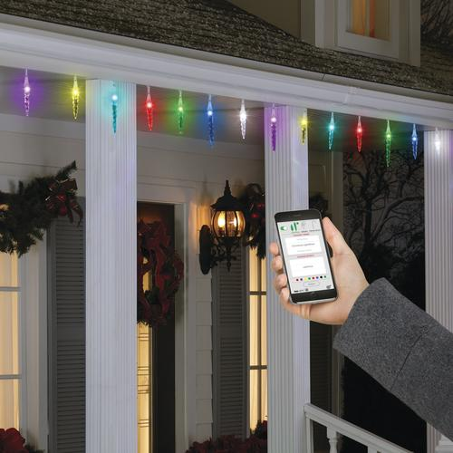 how to decorate with icicle lights.htm enchanted forest   lightshow    smartlights icicle light string at  smartlights icicle light string at