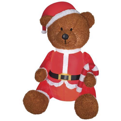 airblown 4 5 teddy bear in santa outfit inflatable at menards rh menards com