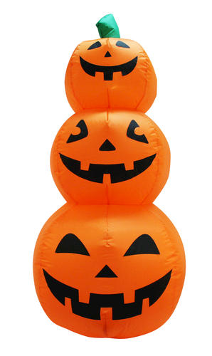 pumpkin hollow 4 pumpkin stack inflatable at menards rh menards com