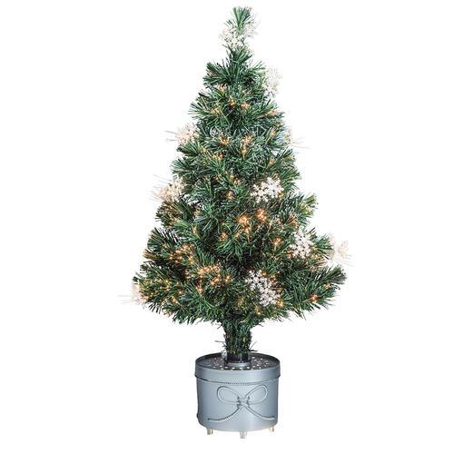enchanted forest 36 snowflake fiber optic artificial christmas tree at menards - Menards Christmas Trees