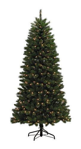 Enchanted Forest® 7' Prelit Slim Arizona Spruce Artificial ...