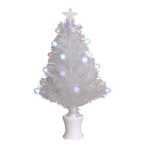 "32"" White Fiber Optic Artificial Christmas Tree"