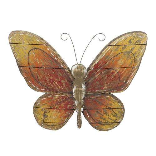 Enchanted Garden Wood Butterfly Outdoor Wall Art At Menards