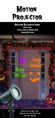 pumpkin hollow animated led halloween icon projector at menards