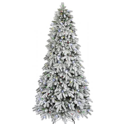 Enchanted Forest® 7.5' Prelit LED Flocked Aspen Artificial ...