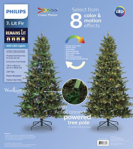 Philips 7 Pre Lit Fir Artificial Christmas Tree At Menards