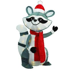 "Enchanted Forest® 24"" Raccoon Wearing Santa Hat"