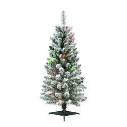 enchanted forest 3 prelit flocked lincoln pine artificial christmas tree at menards