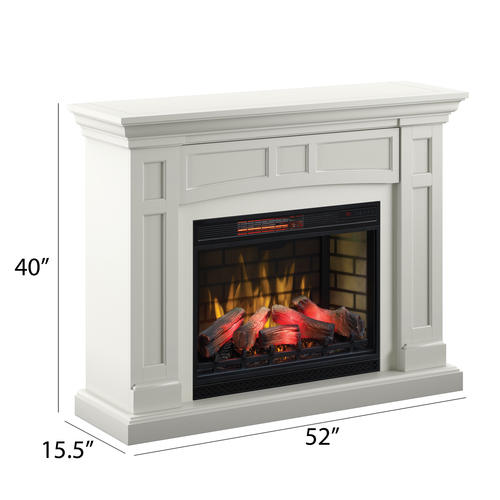 52 Charlotte White Electric Fireplace At Menards
