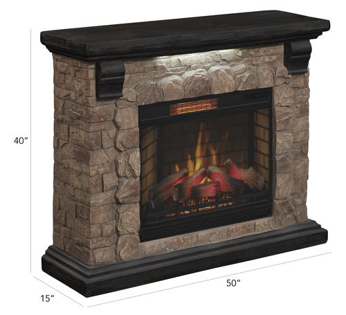 Chimneyfree 50 Yukon Mantel Electric Fireplace At Menards