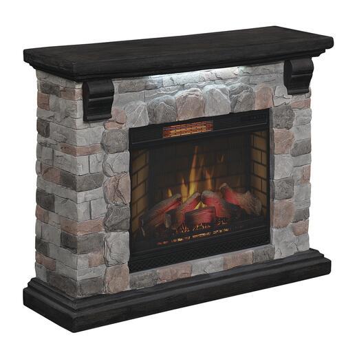 Chimneyfree Yukon 50 Castle Rock Flagstone Electric Fireplace Entertainment Center At Menards