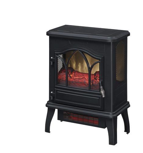 Chimneyfree Billings 18 Black Electric Fireplace Stove At Menards