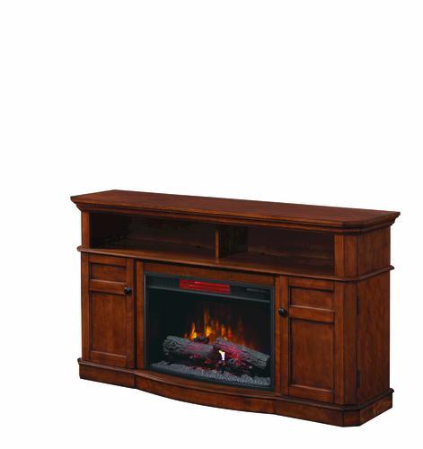 chimneyfree 60 westville electric fireplace entertainment center in mahogany at menards - Menards Electric Fireplace Tv Stands