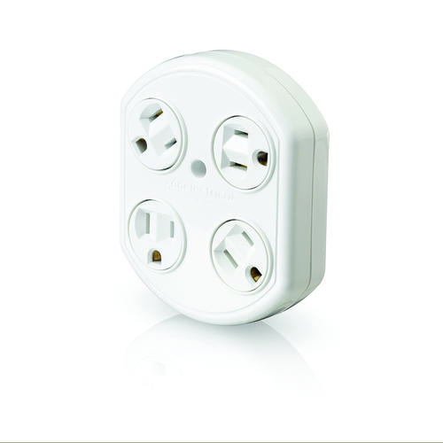 360 Electrical® 4-Outlet Rotating Wall Tap at Menards®