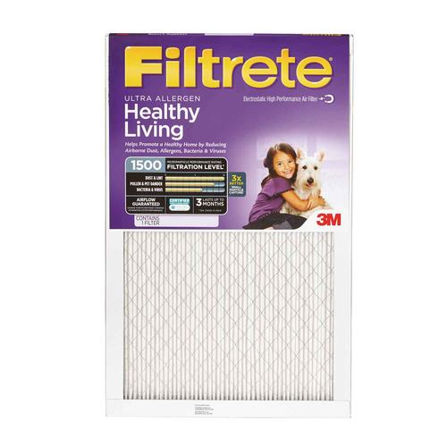"3M 20"" x 24"" x 1"" Ultra Allergen MERV 11 Pleated Air Filter"