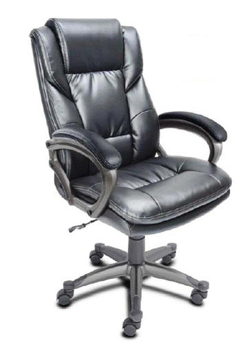 Serta 174 24 Quot Black Bonded Leather Executive Office Chair At