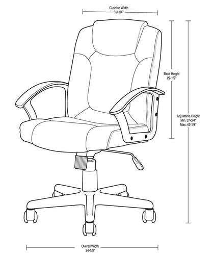 Designers ImageTM Managers Office Chair With Mid Rise Back At MenardsR