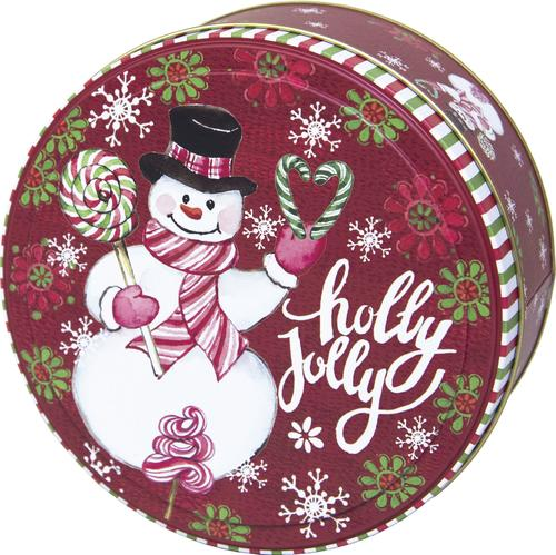 tin home decor.htm 6  round holiday cookie tin assorted styles at menards    6  round holiday cookie tin assorted