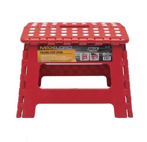 Maxload 174 Folding Plastic Step Stool 225 Lb Max At Menards 174