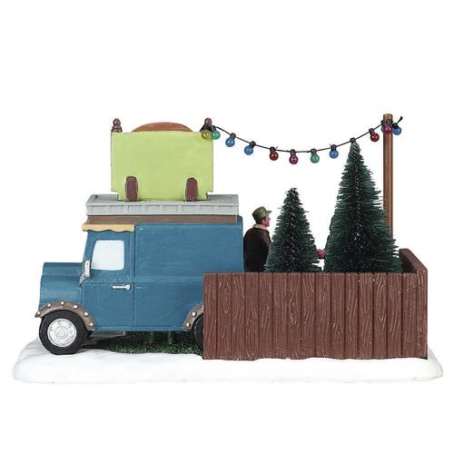 Kringles For Christmas.Lemax Kringle S Christmas Tree Lot Village Scene At Menards