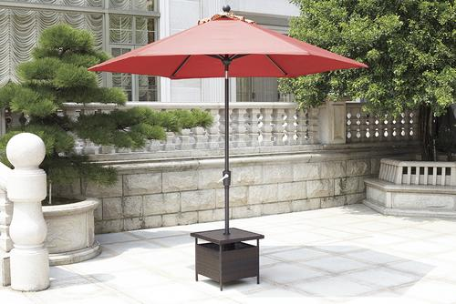 Backyard Creations Allenwood Patio Umbrella Side Table At Menards