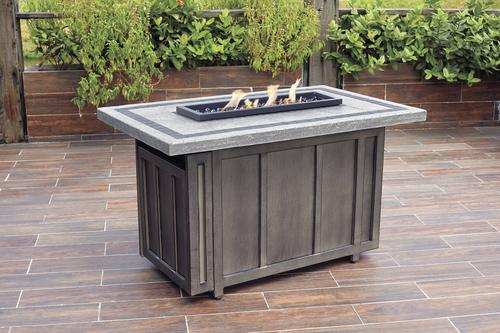Backyard Creations 174 Riverside Propane Gas Fire Pit Table