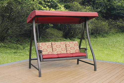 Backyard Creations® Allenwood Patio Swing in Red & Backyard Creations® Allenwood Patio Swing in Red at Menards®