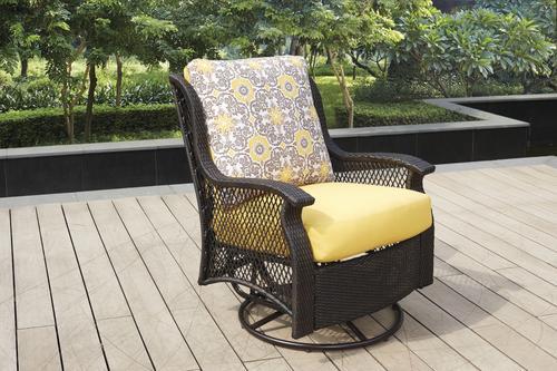 Peachy Backyard Creations Allenwood Deep Seating Swivel Glider Unemploymentrelief Wooden Chair Designs For Living Room Unemploymentrelieforg