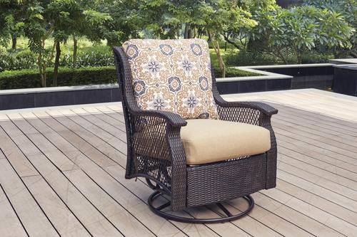 Superb Backyard Creations Allenwood Deep Seating Swivel Glider Unemploymentrelief Wooden Chair Designs For Living Room Unemploymentrelieforg