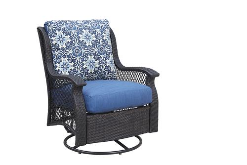 Backyard Creations® Allenwood Deep Seating Swivel Glider Patio Chair in Blue