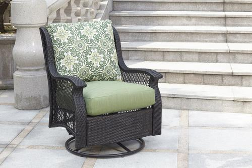 Backyard Creations Allenwood Deep Seating Swivel Glider Patio Chair In Green