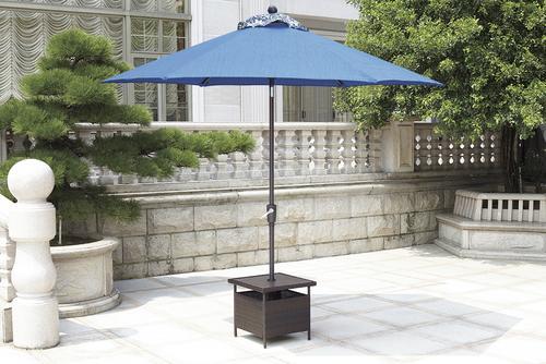 Backyard Creations Allenwood Patio Umbrella Side Table