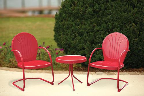 Backyard Creations® Woodstock 3 Piece Red Bistro Patio Set At Menards®
