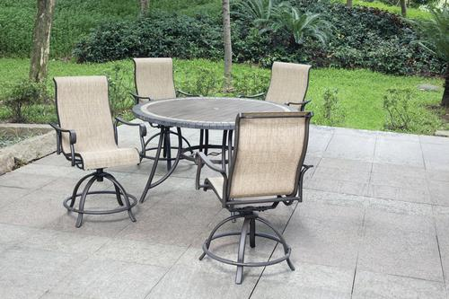 Charmant Backyard Creations® Waterford Collection 5 Piece High Dining ...