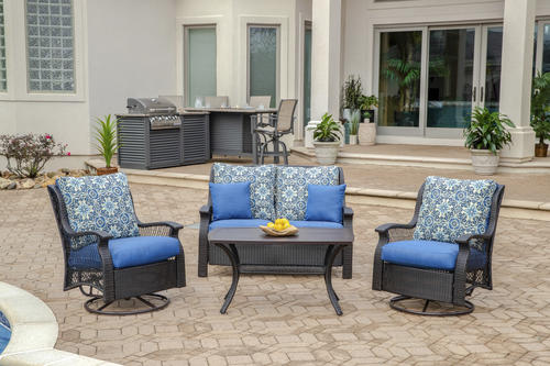 Backyard Creations® Allenwood Collection 4-Piece Seating ...