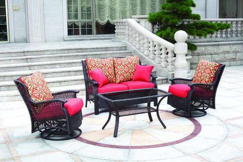 Backyard Creations Allenwood 4Piece Deep Seating Patio Set at