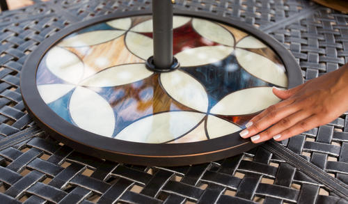 Sterling Home U0026 Patio® Milan Stained Glass Lazy Susan At Menards®