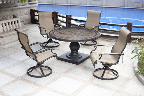 Backyard Creations Murano Collection 5 Piece Dining Patio Set At