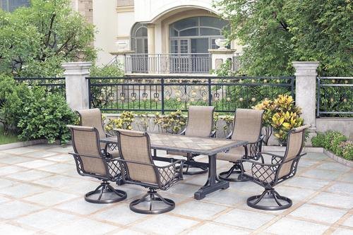 backyard creations tacoma 7 piece dining patio set at menards rh menards com Harkness Furniture Tacoma WA tacoma patio furniture menards