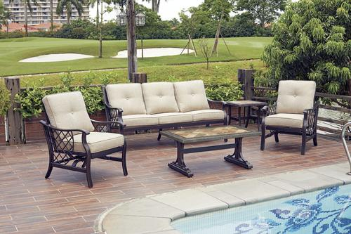 backyard creations tacoma 5 piece seating patio set at menards rh menards com Tacoma Furniture at Art Van Furniture tacoma patio furniture menards