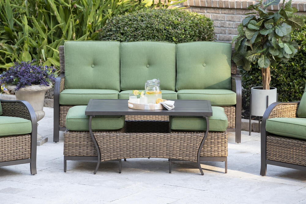 Backyard Creations Rozier Green 6 Piece Seating Patio Set At Menards