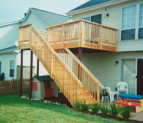 Perfect 10u0027 X 16u0027 Attached Elevated Deck With 4u0027 Landing And Stairs At Menards®