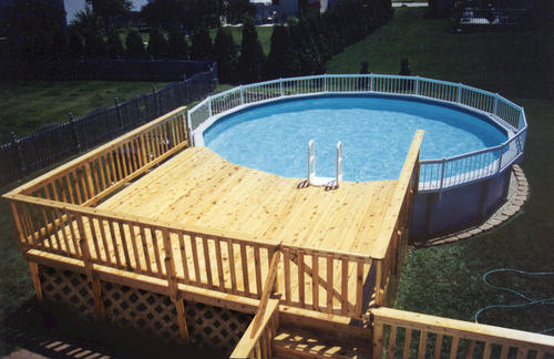 12 X 16 Pool Deck For A 24