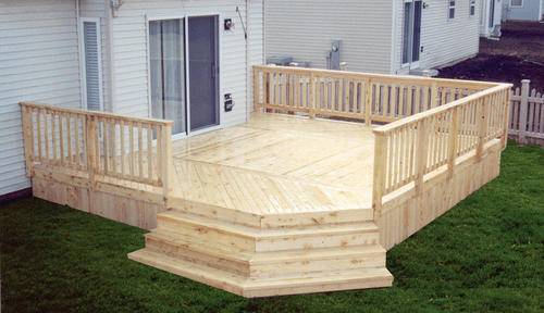 16 X 18 Attached Deck With Solid Deck Board Apron Material List At Menards